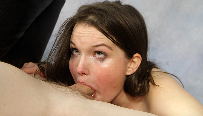 Sperm SUckers whore Lyla Kennedy sucks on a cock